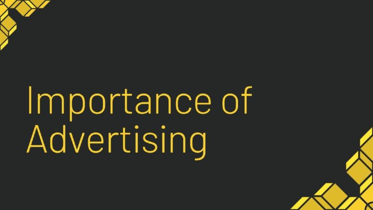 Importance of Advertising