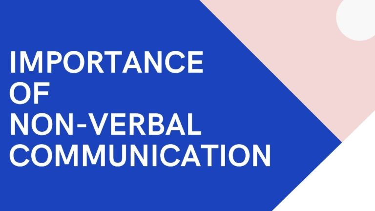Importance of Non-verbal Communication