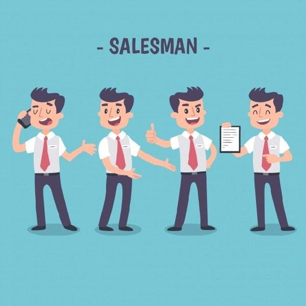 advertising to salesmen
