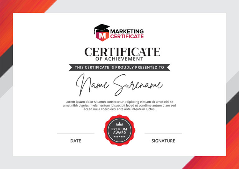 Marketing Certificate 2